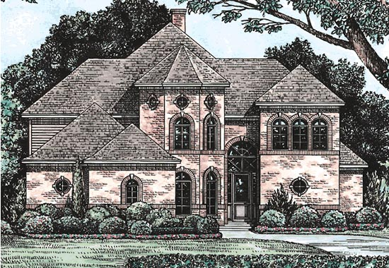 European Victorian House Plan 68127 Elevation