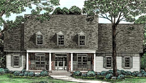 Cape Cod Country Southern House Plan 68128 Elevation