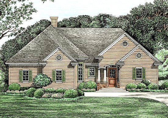 Traditional House Plan 68130 Elevation