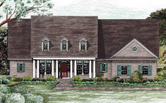 Colonial Country House Plan 68132 Elevation