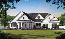 Traditional House Plan 68133 Elevation