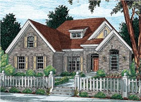 House Plan 68140 | European Style Plan with 2248 Sq Ft, 4 Bedrooms, 3 Bathrooms, 2 Car Garage Elevation