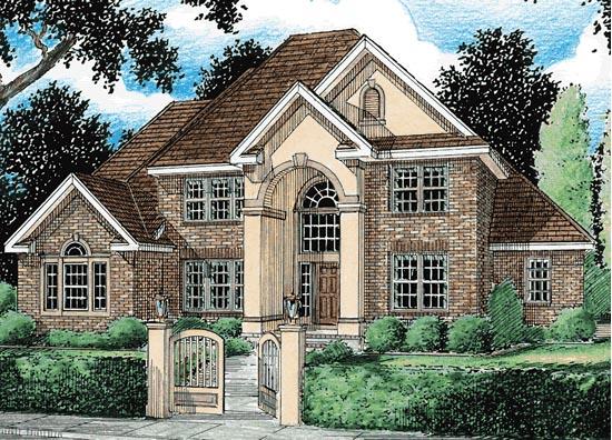 European Southern House Plan 68141 Elevation