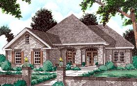 European House Plan 68143 Elevation