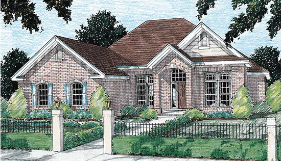 European House Plan 68144 Elevation