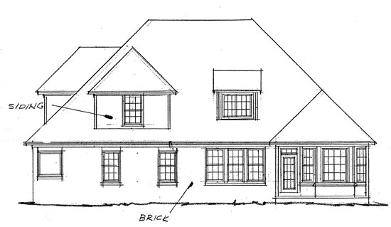 French Country House Plan 68145 Rear Elevation
