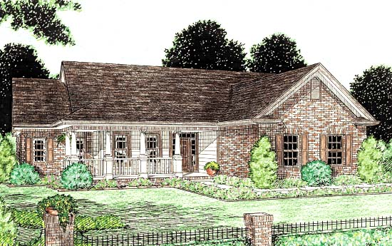 Traditional House Plan 68146 Elevation