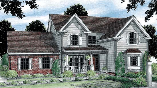 Traditional House Plan 68150 Elevation