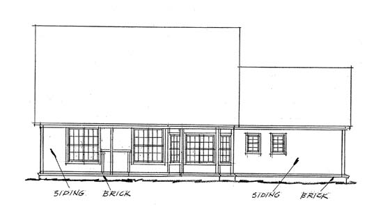 Traditional House Plan 68150 Rear Elevation