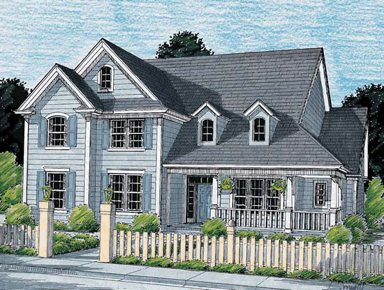Country House Plan 68151 Elevation