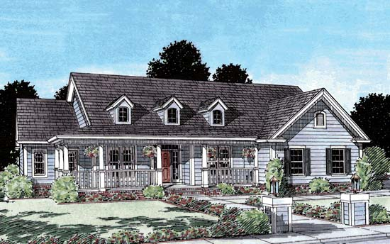 Country Southern House Plan 68152 Elevation