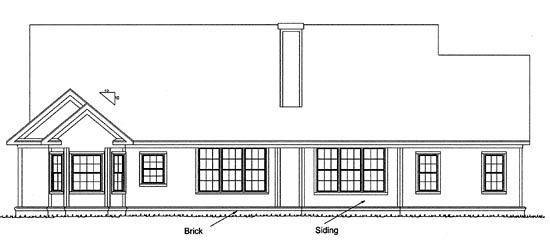 Country Southern House Plan 68152 Rear Elevation