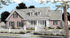 Traditional House Plan 68157 Elevation