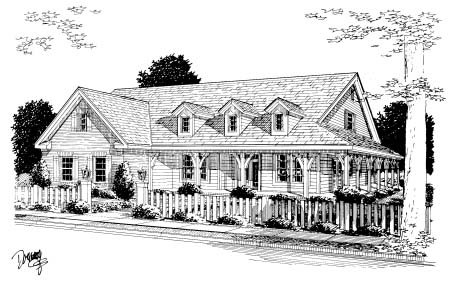 Country Southern House Plan 68159 Elevation