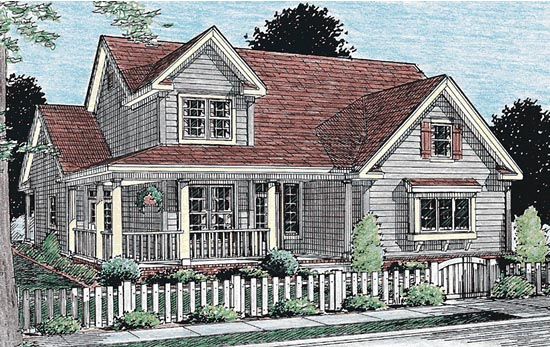 Country Southern Traditional House Plan 68160 Elevation