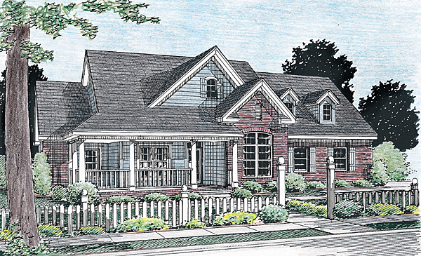 Traditional House Plan 68161 Elevation
