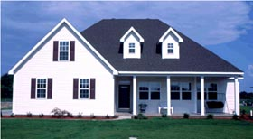 House Plan 68165 | Traditional Style Plan with 1604 Sq Ft, 3 Bed, 2 Bath, 2 Car Garage Elevation