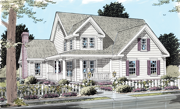 Country Farmhouse House Plan 68170 Elevation