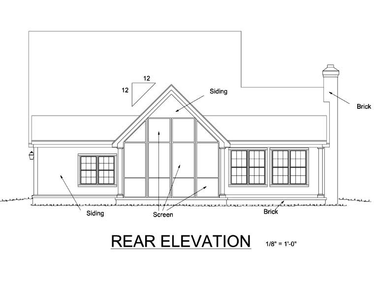 Country Farmhouse House Plan 68170 Rear Elevation