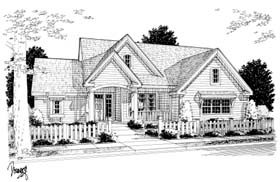 Traditional House Plan 68171 Elevation