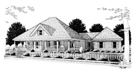 Country , Southern House Plan 68174 with 3 Beds, 2 Baths, 2 Car Garage Elevation