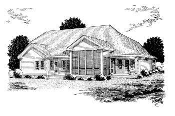 Traditional House Plan 68175 Rear Elevation