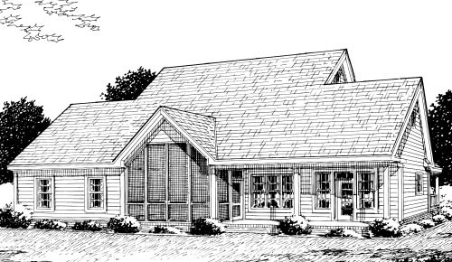 Country Farmhouse House Plan 68178 Rear Elevation