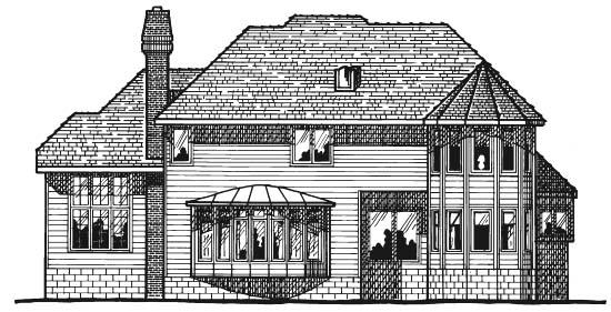 European Victorian House Plan 68182 Rear Elevation