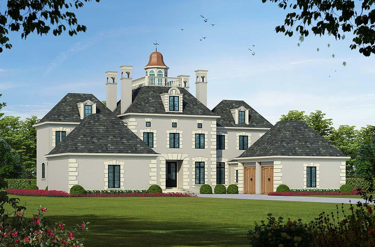 Colonial European House Plan 68186 Elevation