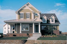 Farmhouse , Country House Plan 68188 with 3 Beds, 3 Baths, 2 Car Garage Elevation