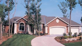 Traditional House Plan 68193 with 1 Beds, 2 Baths, 3 Car Garage Picture 1