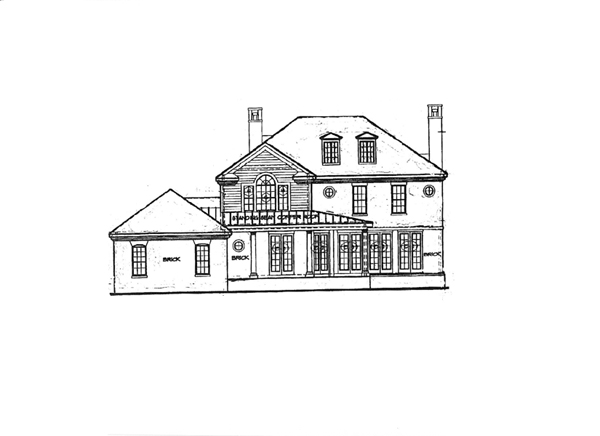 Colonial House Plan 68195 Rear Elevation