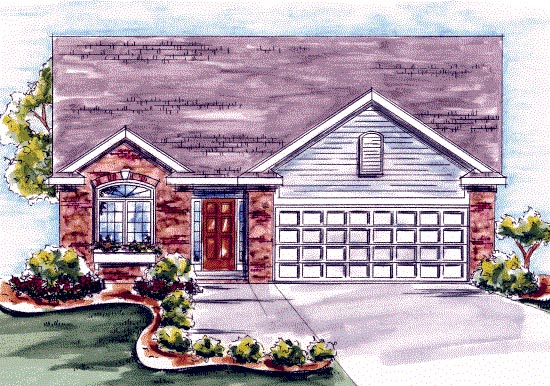 Narrow Lot, One-Story, Traditional House Plan 68198 with 1 Beds, 2 Baths, 1 Car Garage Elevation