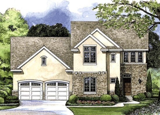 European Traditional House Plan 68199 Elevation