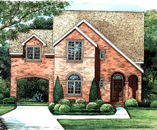 Contemporary European House Plan 68200 Elevation