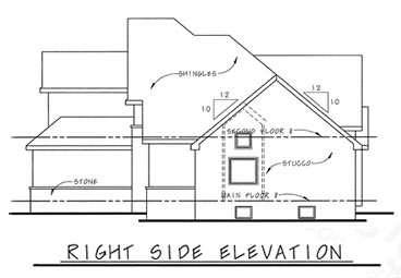 European House Plan 68204 with 3 Beds, 3 Baths, 2 Car Garage Picture 2