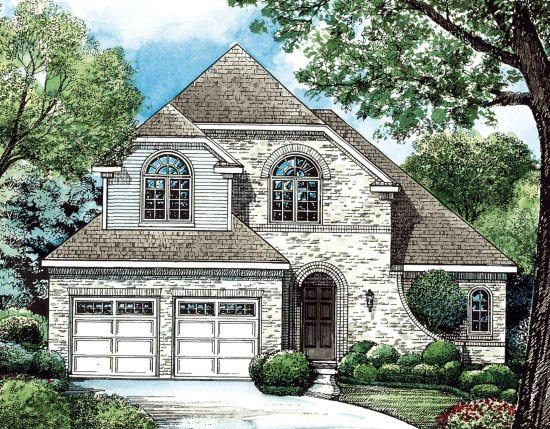 European House Plan 68205 Elevation