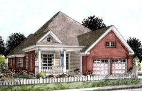 House Plan 68208 | Traditional Style Plan with 2116 Sq Ft, 3 Bedrooms, 2 Bathrooms, 2 Car Garage Elevation