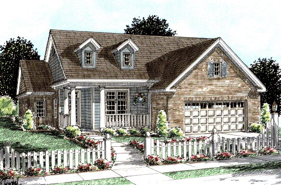 Country, Traditional House Plan 68209 with 3 Beds, 2 Baths, 2 Car Garage Elevation