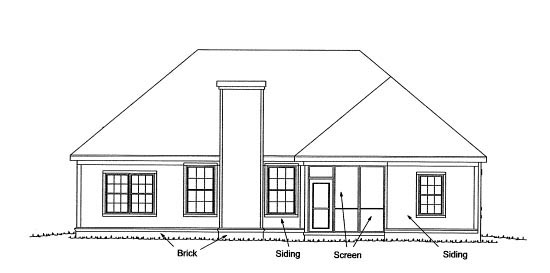 Country Traditional House Plan 68226 Rear Elevation