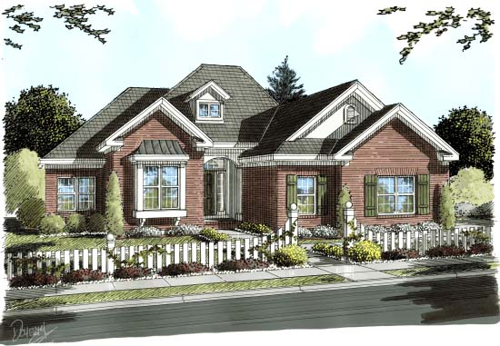 Traditional House Plan 68230 Elevation