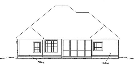 Traditional House Plan 68230 Rear Elevation