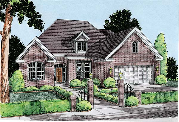 European Traditional House Plan 68236 Elevation