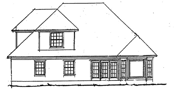 European Traditional House Plan 68236 Rear Elevation
