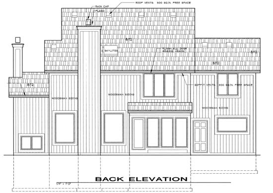 Traditional House Plan 68240 Rear Elevation