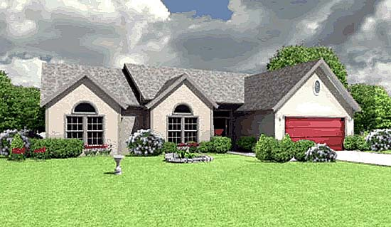 Traditional House Plan 68241 Elevation