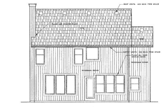 Traditional House Plan 68247 Rear Elevation