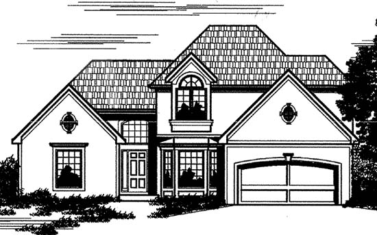 House Plan 68248 | Style Plan with 2531 Sq Ft, 4 Bedrooms, 3 Bathrooms, 1 Car Garage Elevation