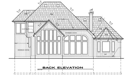 House Plan 68248 | Style Plan with 2531 Sq Ft, 4 Bedrooms, 3 Bathrooms, 1 Car Garage Rear Elevation