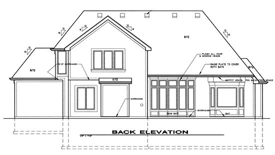 Traditional House Plan 68258 Rear Elevation